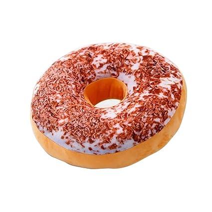 TOYMYTOY Almohada 3D Doughnut Asiento suave y acogedor Atrás Almohada de peluche Donut Throw Pillow Plush Toy para la sala de estar Dormitorio ...