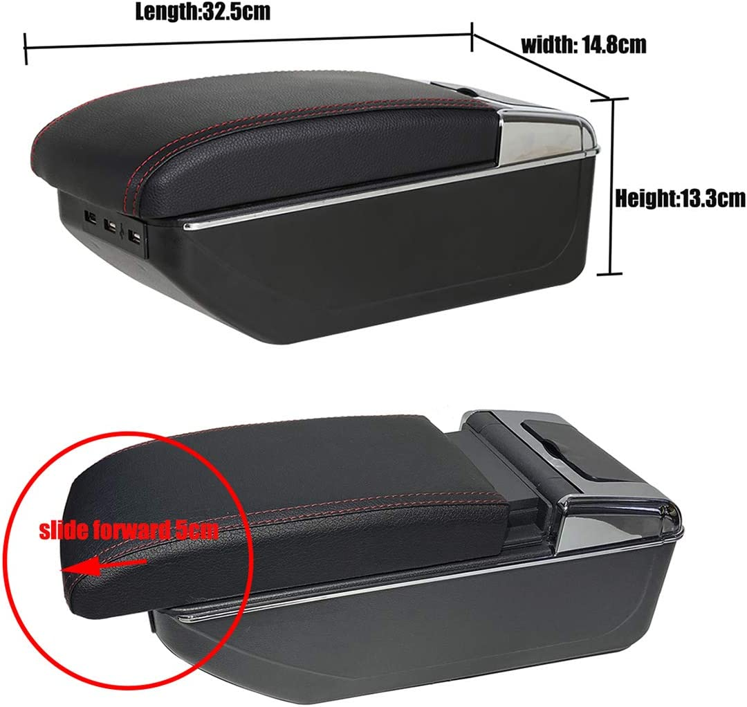 YJYWZH Armrest for Hyundai Getz 2006-2019 Interior Center Consoles with Cup Holder and Ashtray