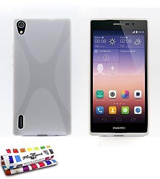 MUZZANO F868739 - Funda para Huawei Ascend P7, Color Blanco