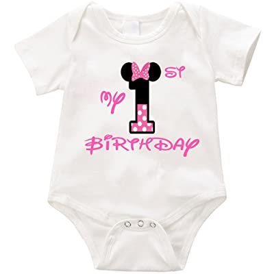 LPM My First Birthday-04 Onesie Unisex Funny Romper Onesie Creeper