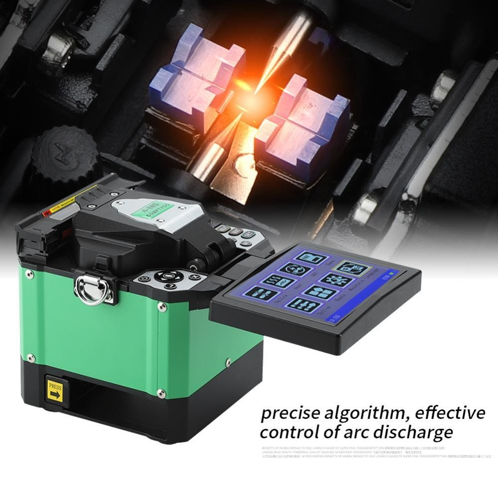 A-80S 5 Inch Digital LCD Screen Optical Fiber Fusion Splicer Fiber Optic Welding Splicing Machine with Automatic Focus Function and Optical Fiber Cleaver ...