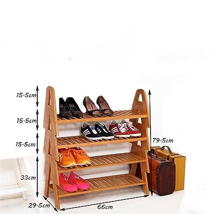 Amazon.com: Wood Organization Storage Rack Wooden Shoes Shelf ...