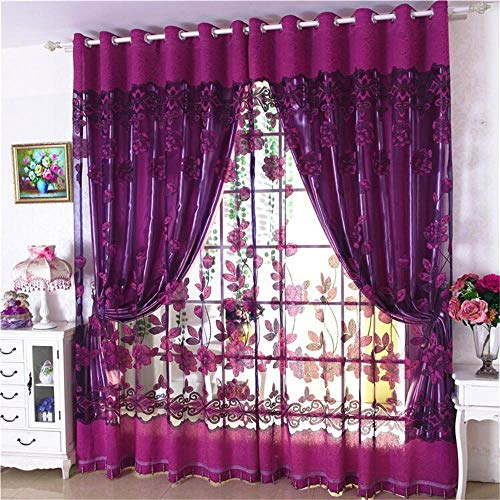 - Solid Sheer Curtains Draperie White Rod Pocket 1 Panel