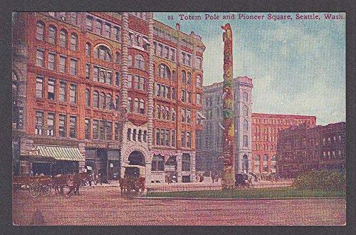 Totem Pole & Pioneer Square Seattle WA postcard - Wa Square