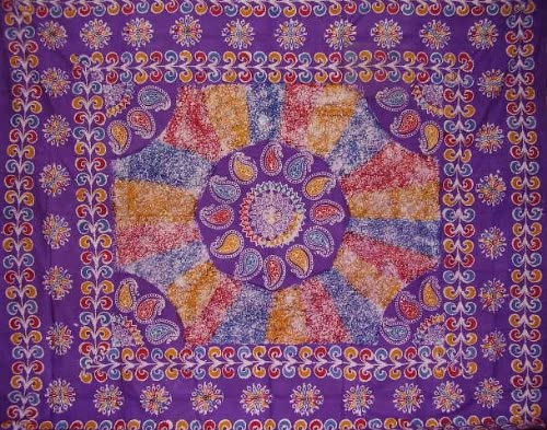 Homestead Authentic Batik Tapestry-Wall-Coverlet- Tableloth –