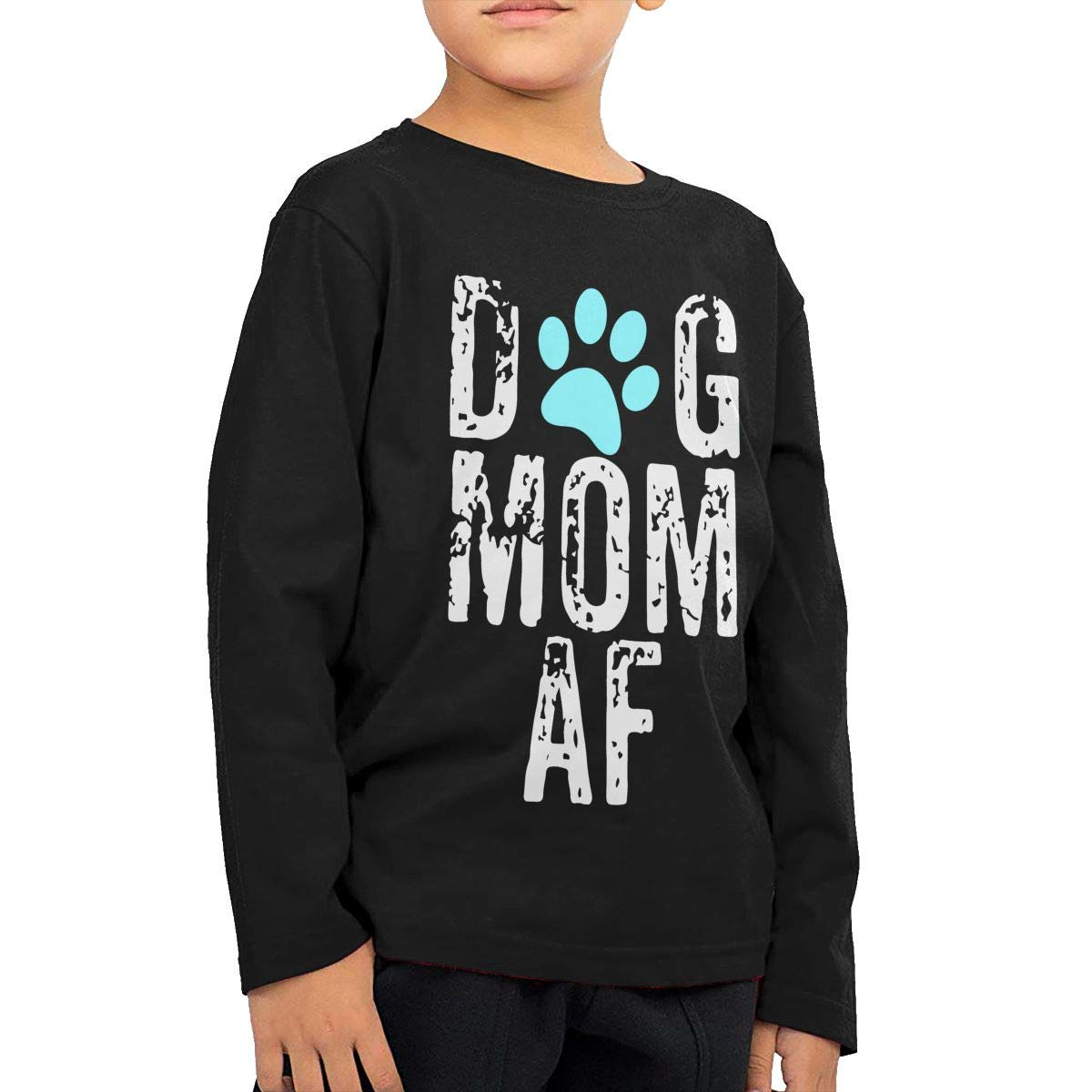 Fryhyu8 Baby Girls Childrens Dog Mom AF Printed Long Sleeve 100/% Cotton Infants Tee Shirt