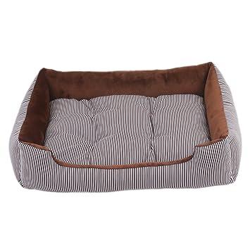 YUHUAWYH Camas para Perros y Gatos Cesta Mascotas Pequeña Medianos Máquina Lavable (XL:80 * 60 * 15 CM, Café): Amazon.es: Productos para mascotas