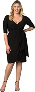 product image for Kiyonna Women's Plus Size Harlow Faux Wrap Dress
