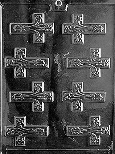 Grandmama's Goodies R021 Fancy Cross Chocolate Candy Soap Mold with Exclusive Molding Instructions - Candy Religious Molds