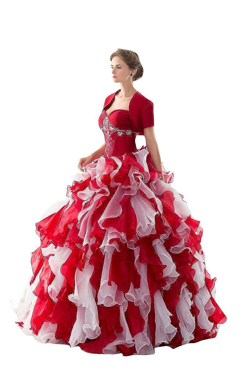 Beauty-Emily Maxi Trinket escote corazón sin tirantes desmontable de dos piezas de satén en capas de encaje de las mujeres vestidos de novia vestidos de ...