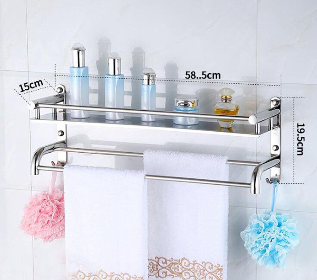 Daeou Edelstahl Edelstahl Edelstahl bad mit wc Ablagen Handtuchhalter Badezimmer Wand f3a60f