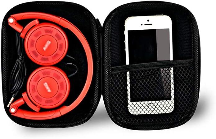 Ioouooi Estuche portátil para audífonos Plegables, Bolsa de Almacenamiento de Viaje rígido de EVA para el Cargador de Llaves Banco ect artículos (Estuche Redondo Negro): Amazon.es: Electrónica