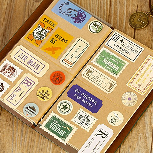 Sunny W Vintage Stamps Decorative Stickers Sealing Stickers, 2 Set/Total of 44 - Cool Sunnies