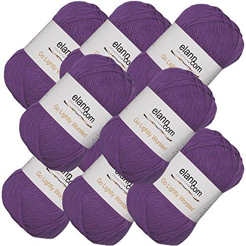 elann Go Lightly Worsted Yarn | 8 Ball Bag | 11 Purple Heart