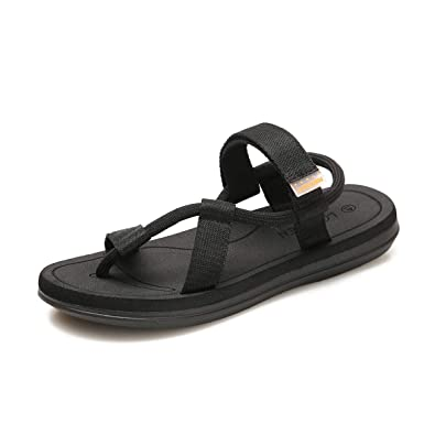 1c928864d1e3 gracosy Womens Summer Sandals Clip Toe Flip Flops Thongs Beach Strappy  Platform Flat Wedge Sandals Gladiator Lace up Slingback Wide Fit Outdoor  Shoes Anti ...
