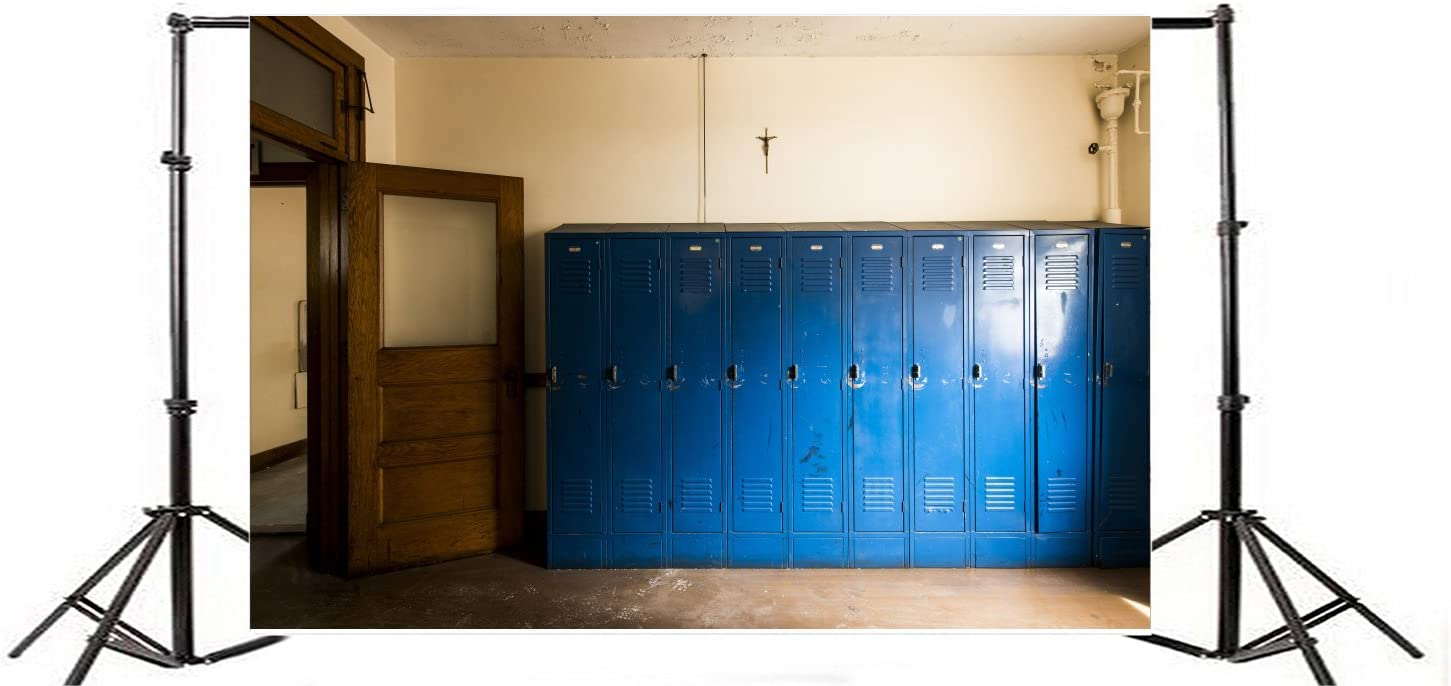 Laeacco 7x5ft Blue Locker Backdrop Numbers Abstract Wallpaper Photography Background Kids Adults Photo Studio Props
