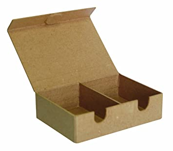 Decopatch - Caja para decorar (papel maché), color marrón: Amazon.es: Hogar