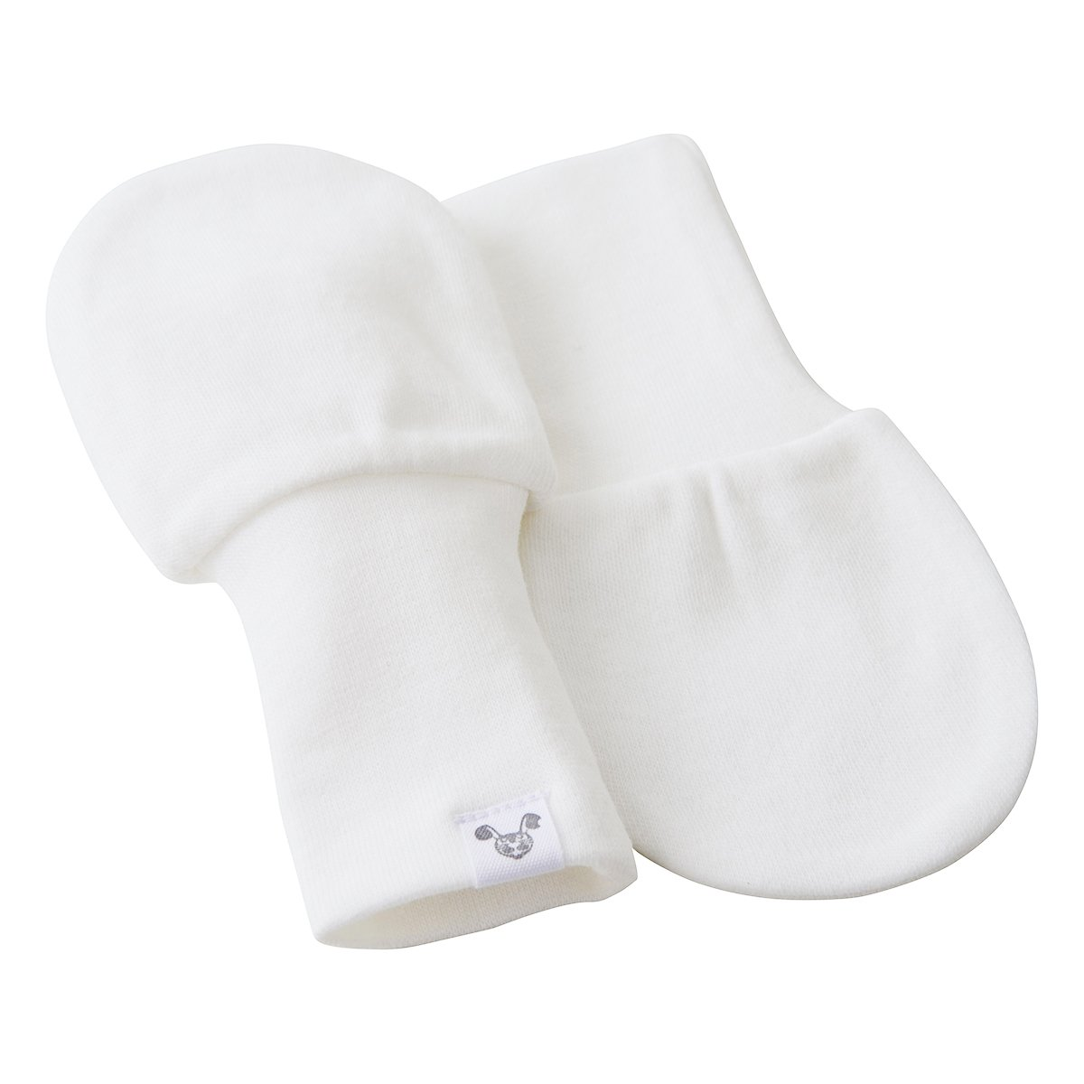 Recién nacido Color Blanco Bebé manoplas - no arañazos manoplas 3 ...