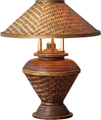 Lámpara de mesa Vintage creativo Estilo del sudeste asiático Hecho ...
