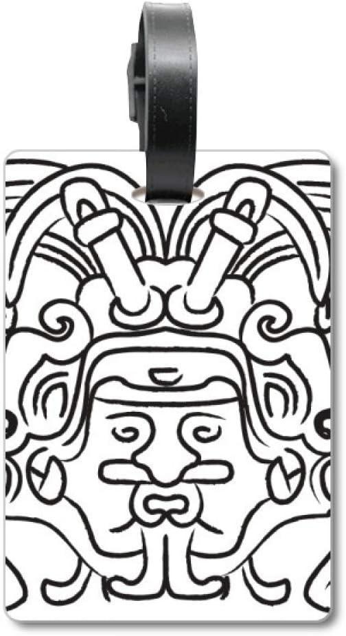 Etiqueta de identificación para Maleta de Viajero de Egipto con diseño de alas Fresco asimétricas.