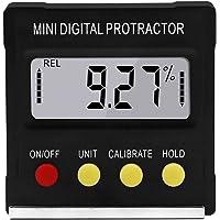 UKCOCO Goniómetro magnético electrónico digital, inclinómetro angular, medidor de bisel con base de parada