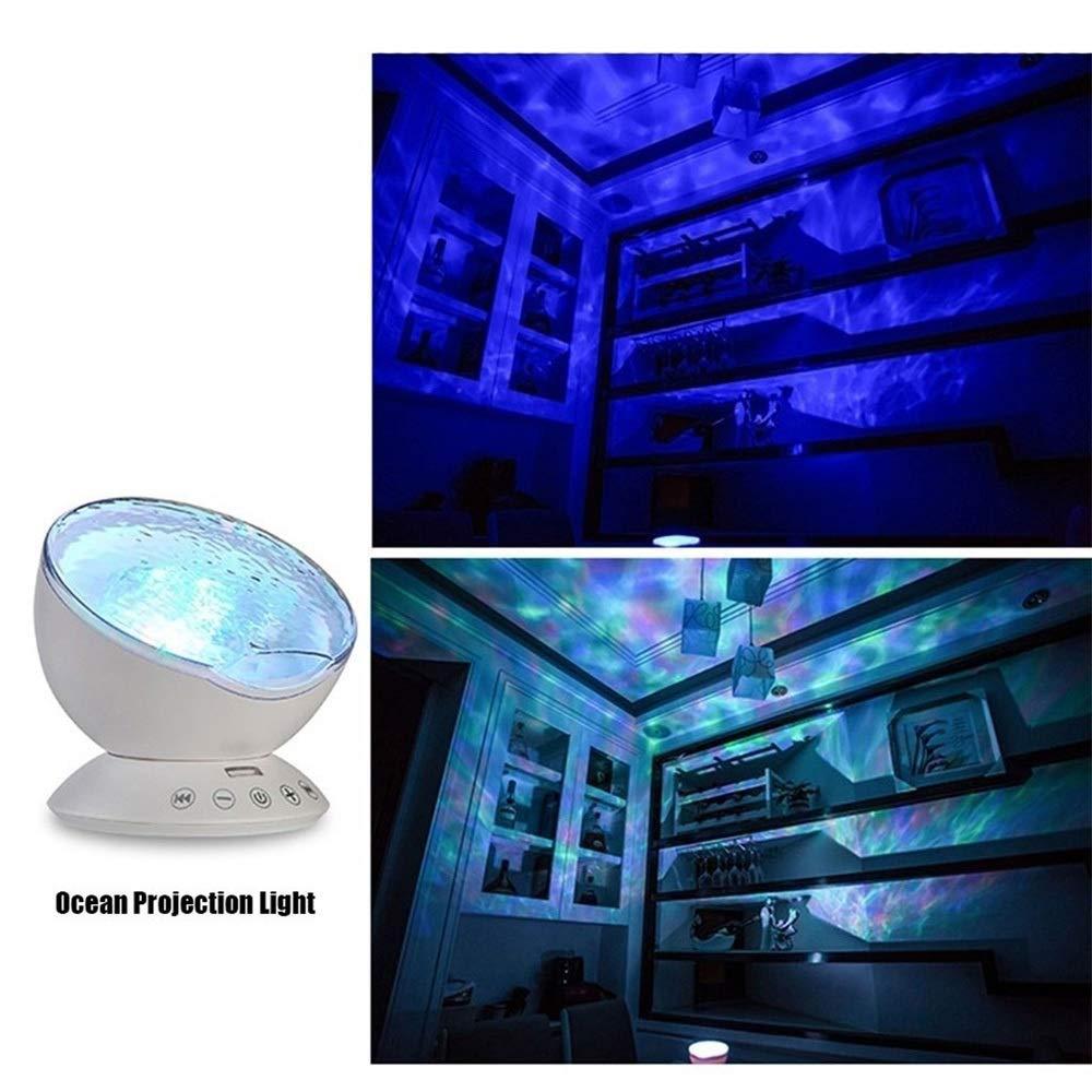 Wave Projector LED Control Remoto Lámpara de proyector Submarino ...