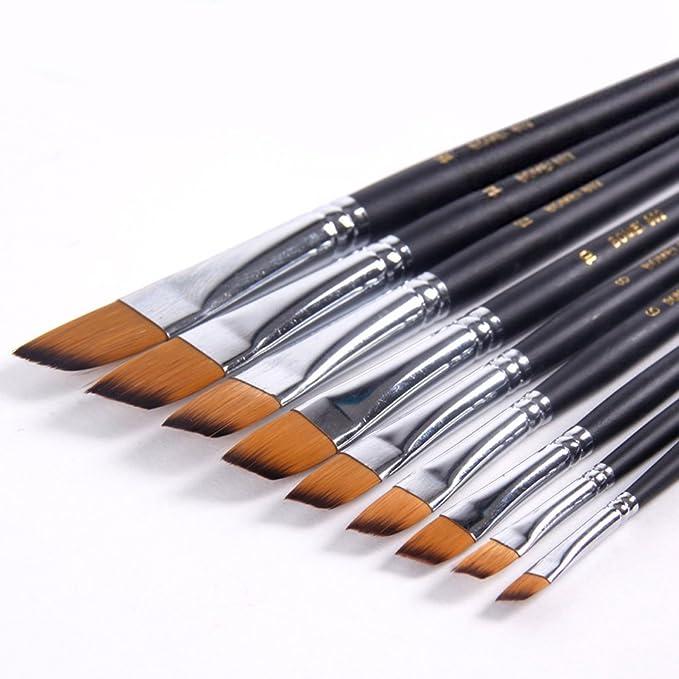 1 opinioni per 9 pezzi pennelli Weasel di zibellino, pennelli per dipingere con punta