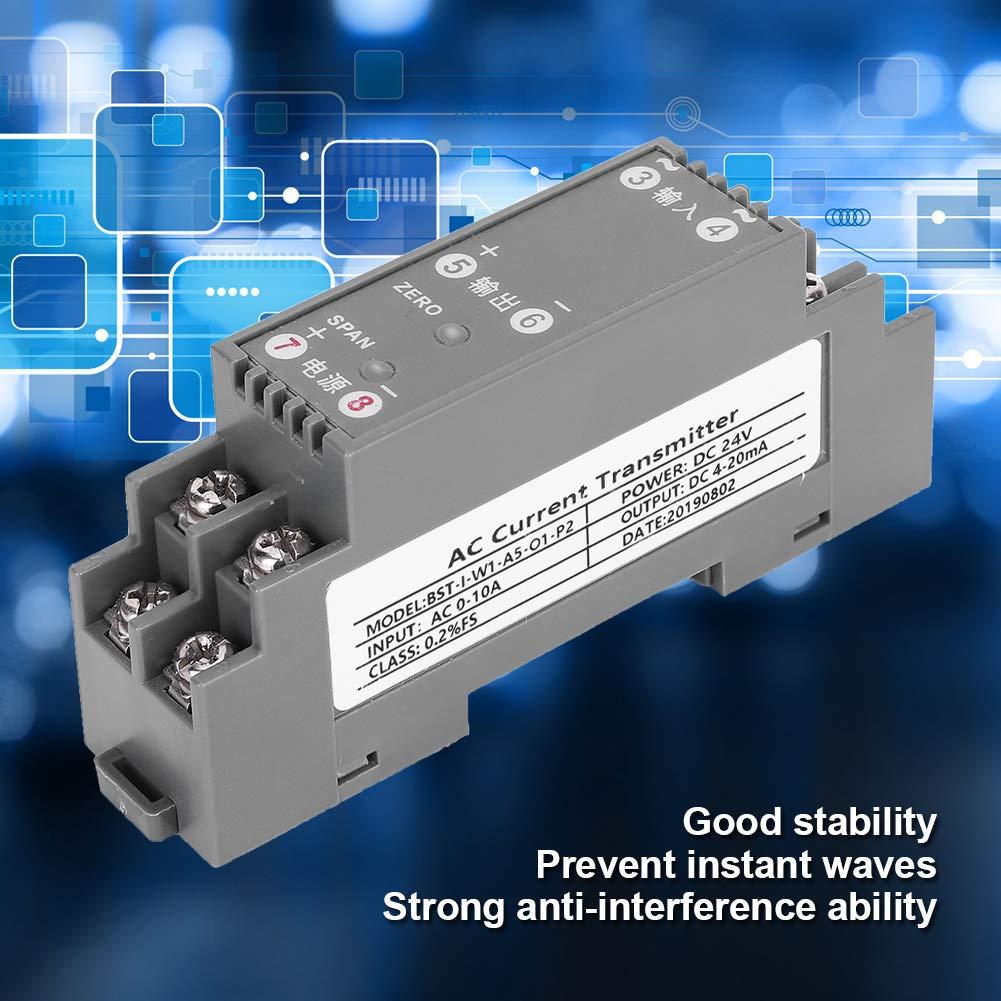 AC 0-10A Input DC 4-20mA Output AC Transmitter Current Sensor AC ...