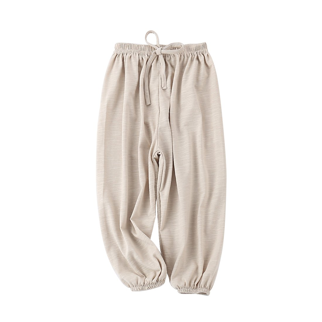 PAUBOLI Baby Long Bloomers Soft Slub Cotton Harem Pants for Boys Girls 12M-7T (6-7 Years, Beige)