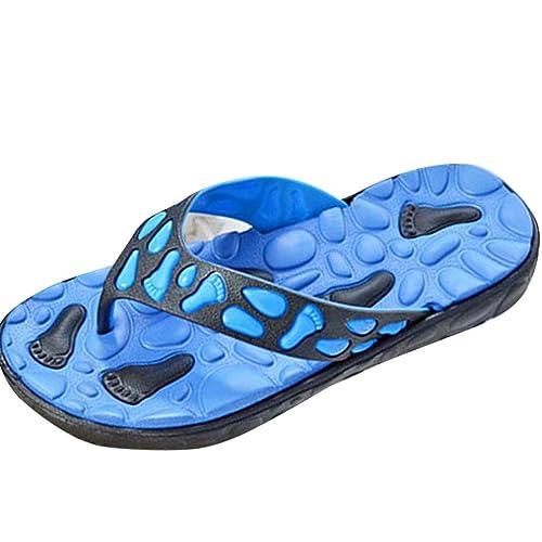 Damen Schuhe Sandalen Zehentrenner Zehensandale Badelatschen Sommer Hausschuhe Zehentrenner Outdoorschuhe Schwimmbadschuhe Strandschuhe Blau 41 xkPOd39r13