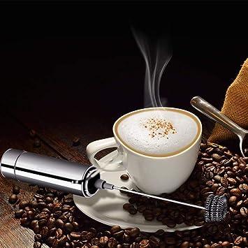 Bycws - Máquina para Hacer Espuma con vaporizador eléctrico, Mezclador de batidor de café, Mini licuadora y Leche espumosa espumosa Capuchino: Amazon.es: Hogar