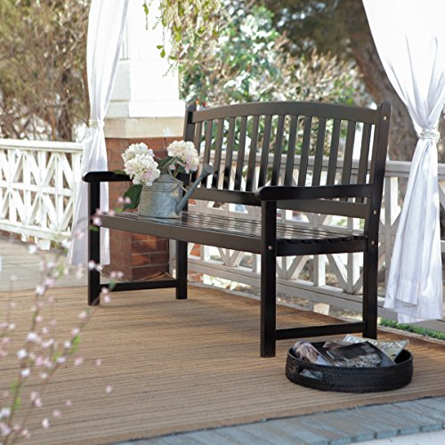 Coral Coast Pleasant Bay 5 ft. Slat Curved-Back Outdoor Wood - Garden Lutyens Furniture