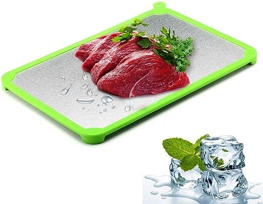 CMBJX Plato de comida Bandeja de descongelación Descongelar ...