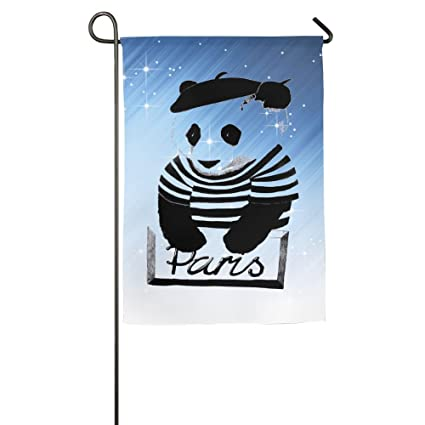 Hexu Wear A Hat Of Panda Family Garden House Home Demonstration Game Flag  1218inch