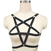 w.t.s. Harness Bra Sexy Lingerie Cupless Strap cage Bra Gothic Black