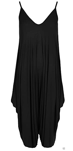bf2205ea7937 RIDDLED WITH STYLE Womens Hareems V Neck Harems Dress All in One Jumpsuit  Romper Ladies Plus Size  Amazon.co.uk  Clothing