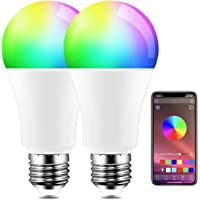 REPSN® Gosund Alexa gloeilamp, E27-fitting, wifi, meerkleurige dimbare lamp, compatibel met Amazon Alexa Echo, Echo Dot…