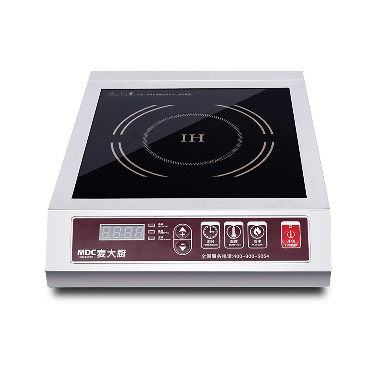 Larger 9 coil to handle larger cookware Stainless-steel body 10 temperature levels 100/° - 464/°F Aervoe Industries 6535 Max Burton Digital ProChef-3000 Induction Cooktop