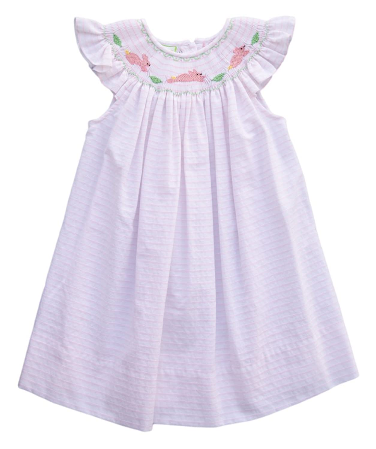 444677af8 Little Threads Bunny Bishop Smocked Dress - 2T Smocked Dress Bunny  Embroidered, Smocked Collar and Ruffled Sleeves Carouselwear Baby Girls  Easter ...