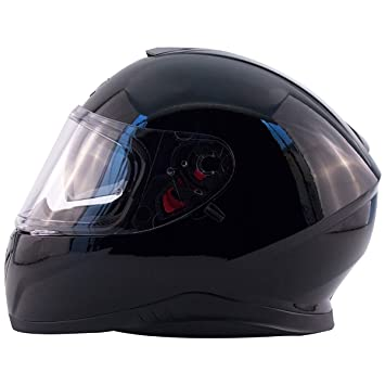 ZOX z-ff10 SVS Street motocicleta – Casco para hombre, color negro