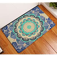 Fashion Dream Mandala Bathroom Rug Bath Mats- Non-slip Soft Absorbent Decorative Bath Runner Floor Mat Carpet (Wide 20 Inch x Length 32 Inch£Indian Bohemian Ornament