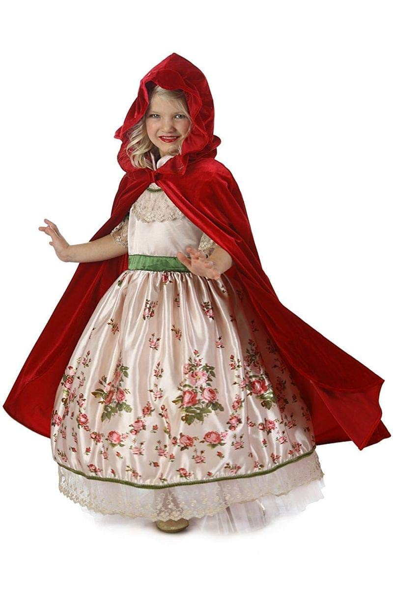 - 61sJqD UO1L - Princess Paradise Vintage Red Riding Hood Costume, Multicolor