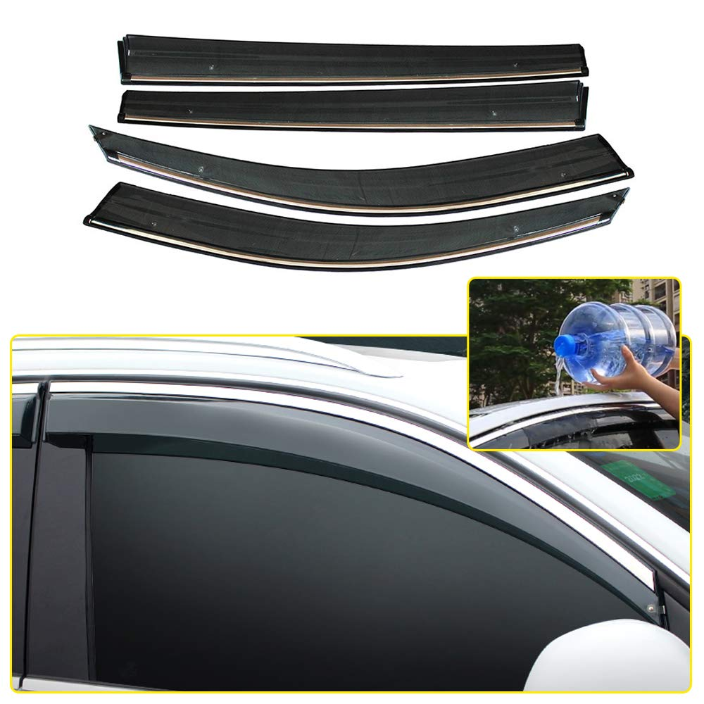 8X-SPEED Wind Deflectors For Touran 2011-2015 Sun Visors Tinted Front And Rear Window Sun Rain Wind Sunshield Protector 4PCS