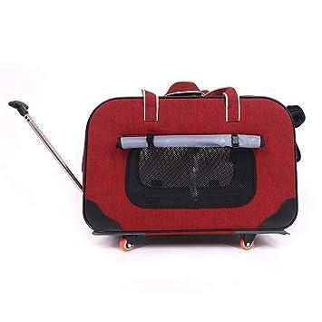 SHINING KIDS Trolley Perro Maleta Grande para Mascotas Los Bolsos Portátiles para Gatos Y Perros Son Aptos para 10 Kg O Menos,Red: Amazon.es: Deportes y ...