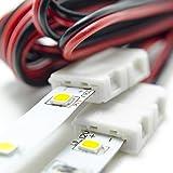 HitLights LED Light Strip Connector, 8mm Single
