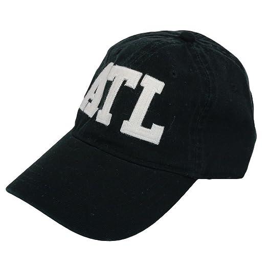 46b53a9730e ATL Atlanta Airport Code Felt Logo Hat Black at Amazon Men s ...