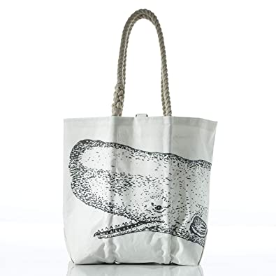 e2891c368bd Image Unavailable. Image not available for. Color  Sea Bags Recycled Sail  Cloth Whale Tote