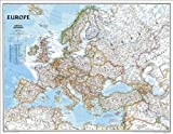 "Europe Classic Wall Map Map Type: Enlarged and Laminated (35""H x 45""W)"