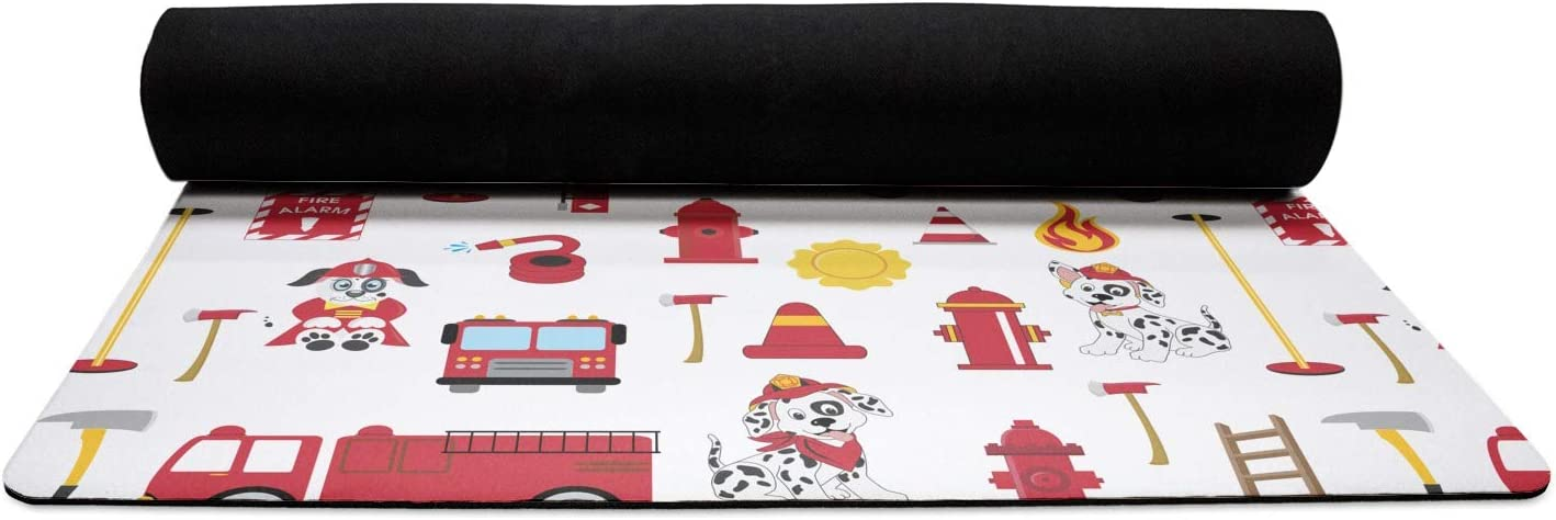 Personalized YouCustomizeIt Firefighter for Kids Duffel Bag