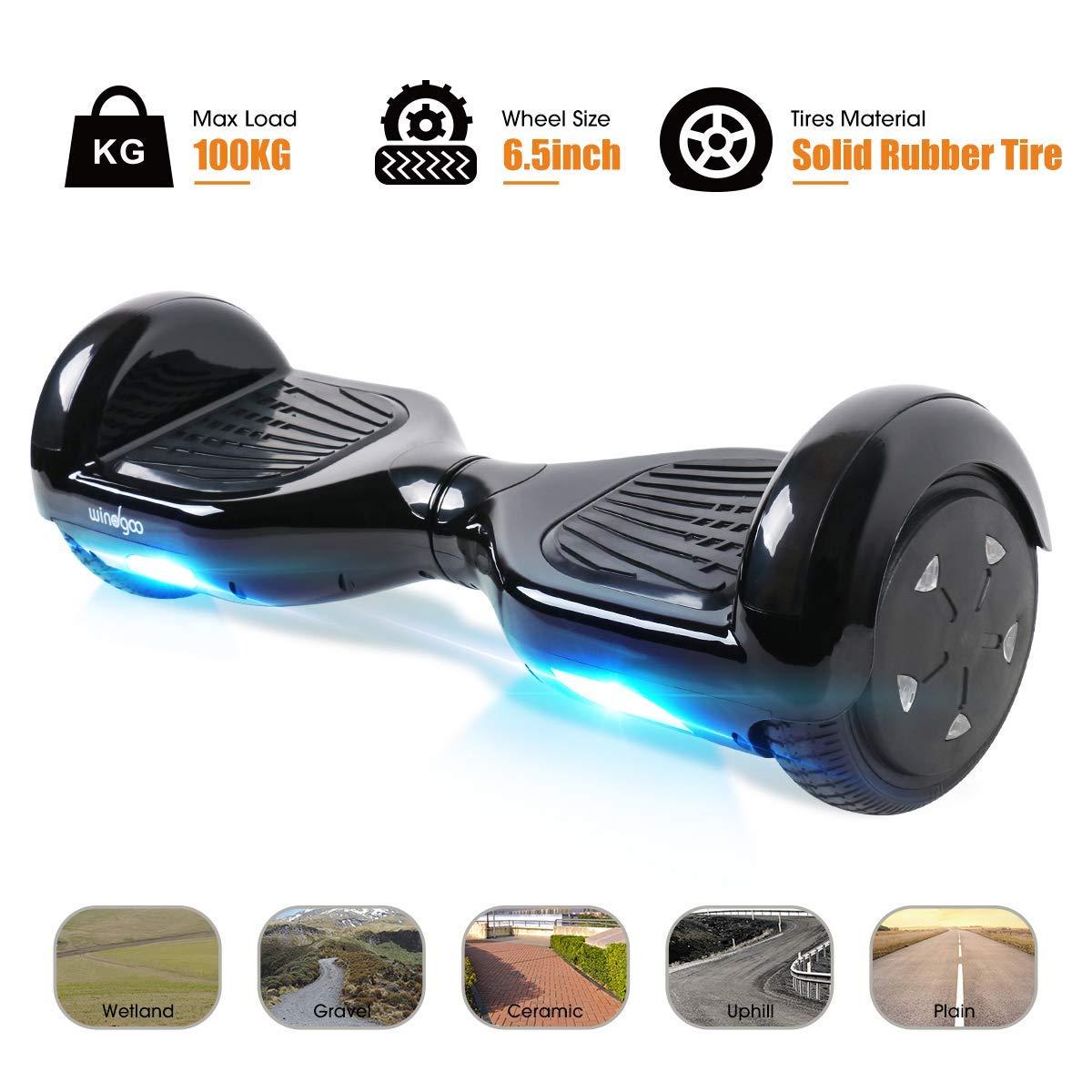 Windgoo Hoverboard LED Lights 6.5 Elektro Scooter mit 2 * 250W Motor LED-Army Self-Balance E-Skateboard